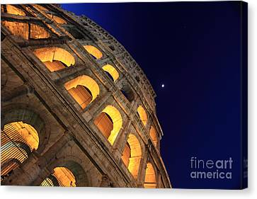 Colosseum At Night Canvas Print by Stefano Senise