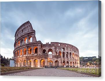 Colosseum At Sunrise Rome Italy Canvas Print