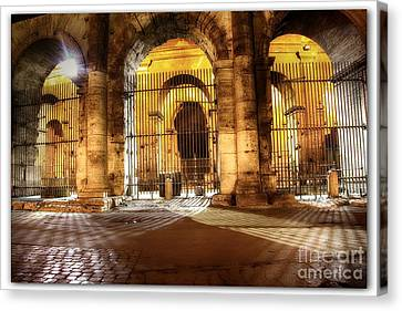Colosseum Lights Canvas Print by Stefano Senise