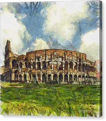 Colosseum Pencil Canvas Print