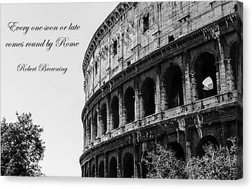 Colosseum - Rome Canvas Print by Andrea Mazzocchetti