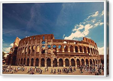 Colosseum Rome Canvas Print by Stefano Senise
