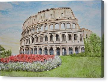 Colosseum Canvas Print by Swati Singh