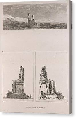 Colossi Of Memnon Canvas Print by British Library