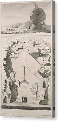 Colossus Of Memnon Canvas Print by British Library