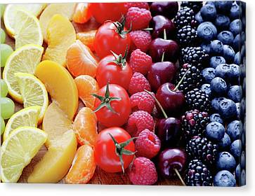 Colouful Selection Of Fruit Canvas Print by Gustoimages