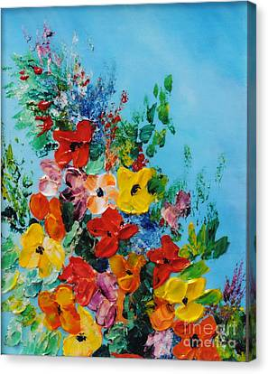 Canvas Print featuring the painting Colour Of Spring by Teresa Wegrzyn