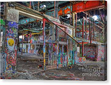 Coloured Dereliction Canvas Print by David Birchall