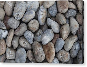 Canvas Print featuring the photograph Coloured Pebbles by Stewart Scott