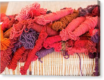 Coloured Yarn Canvas Print by Jim West
