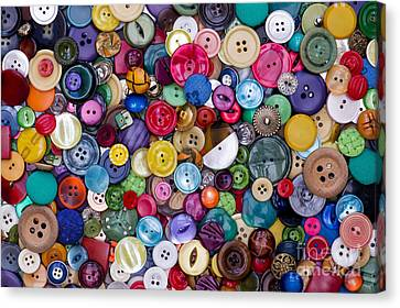 Selection Canvas Print - Colourful Buttons by Tim Gainey
