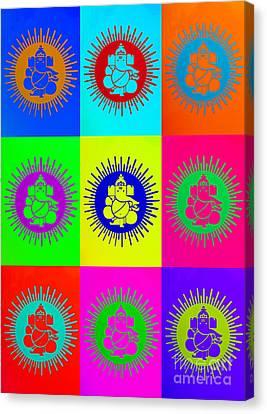 Colourful Ganesha Canvas Print by Tim Gainey