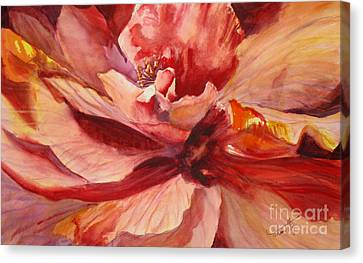 Colourful Hibiscus Canvas Print by Mohamed Hirji