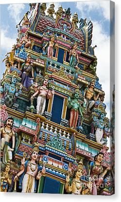 Colourful Hindu Temple Gopuram Statues Canvas Print