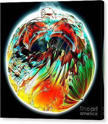 Colourful Planet Canvas Print by Bernard MICHEL