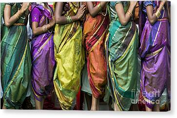 Colourful Sari Pattern Canvas Print by Tim Gainey