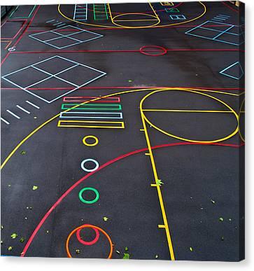 Colourful School Playground Canvas Print