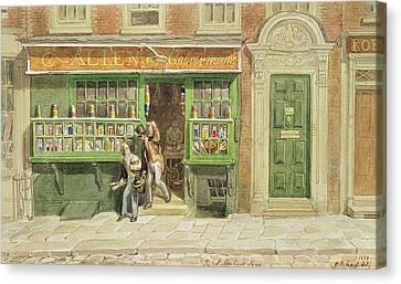 Colourmans Shop, St Martins Lane, 1829 Wc On Paper Canvas Print by George the Elder Scharf