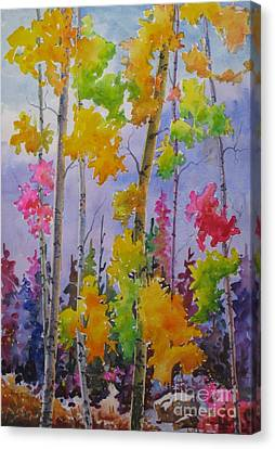 Colours Of Fall Canvas Print by Mohamed Hirji