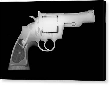 Colt 357 Magnum Reverse Canvas Print by Ray Gunz