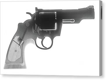 Colt 357 Magnum X Ray Photograph Canvas Print by Ray Gunz