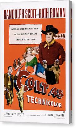 Colt .45, Us Poster, From Left Zachary Canvas Print by Everett