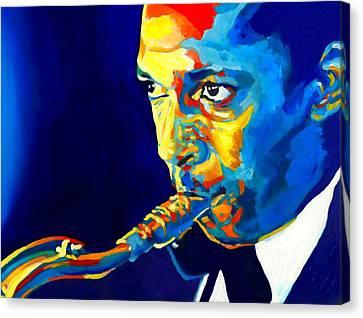 Avant Garde Jazz Canvas Print - Coltrane-blu by Vel Verrept