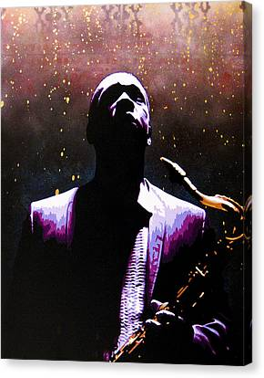 Coltrane II - Coltrane Harder Canvas Print by Bobby Zeik