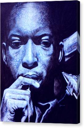 Coltrane Canvas Print by Mike Underwood