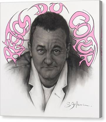 Coluche Canvas Print by Guillaume Bruno