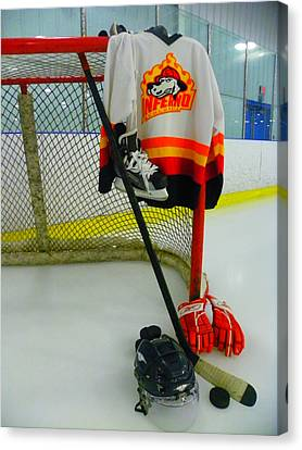 Columbia Inferno Away Jersey Canvas Print by Lisa Wooten