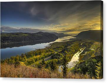 Columbia River Gorge At Sunrise Canvas Print