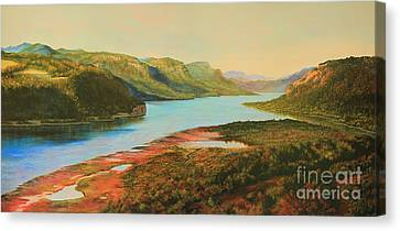 Columbia River Gorge Canvas Print by Jeanette French