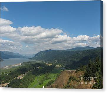 Columbia River Gorge Canvas Print by Marlene Rose Besso