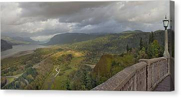 Canvas Print featuring the photograph Columbia River Gorge View From Crown Point by JPLDesigns