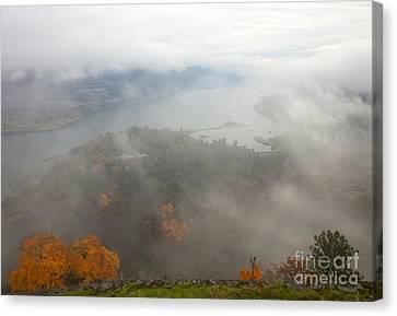 Columbia River Hidden Canvas Print by Mike  Dawson
