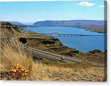 Columbia River Vantage Point Canvas Print