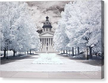 Columbia South Carolina Infrared Landscape  Canvas Print by Kathy Fornal