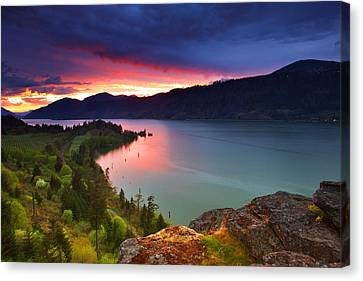Columbia Sunset Canvas Print