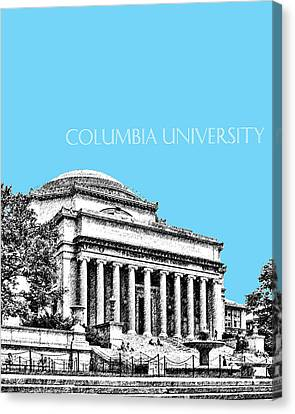 Memorial Canvas Print - Columbia University - Sky Blue by DB Artist