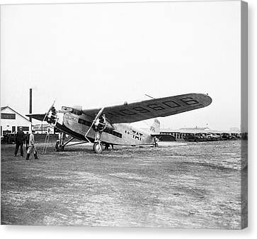 Columbus Airplane Canvas Print by Library Of Congress