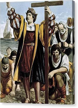 Columbus, Christopher 1451-1506. Sailor Canvas Print by Everett