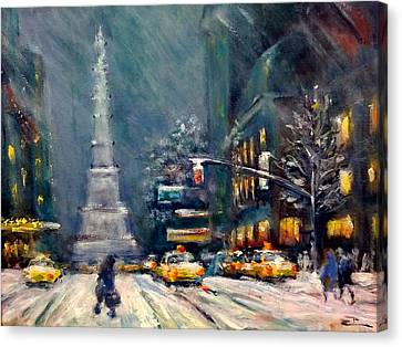 Columbus Circle Nyc Canvas Print