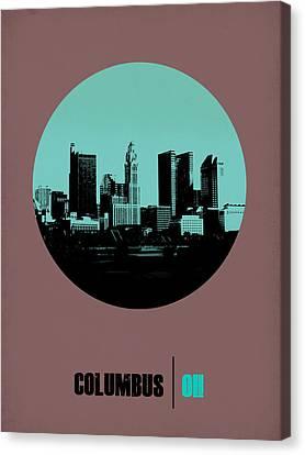 Columbus Circle Poster 2 Canvas Print by Naxart Studio