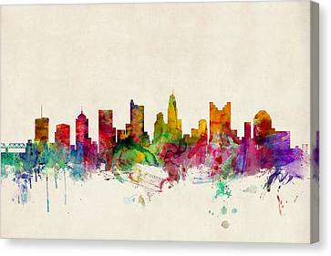 Columbus Ohio Skyline Canvas Print by Michael Tompsett