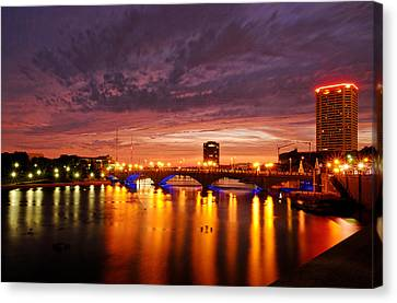 Columbus Scioto Mile IIi Canvas Print by Dick Wood
