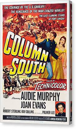 1950s Poster Art Canvas Print - Column South, Us Poster, From Top Left by Everett