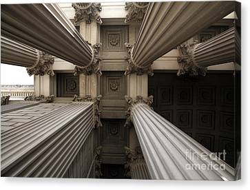 Columns At The National Archives In Washington Dc Canvas Print