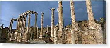 Columns Of Buildings In An Old Ruined Canvas Print by Panoramic Images