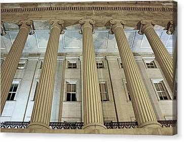 Canvas Print featuring the photograph Columns Of History by Suzanne Stout